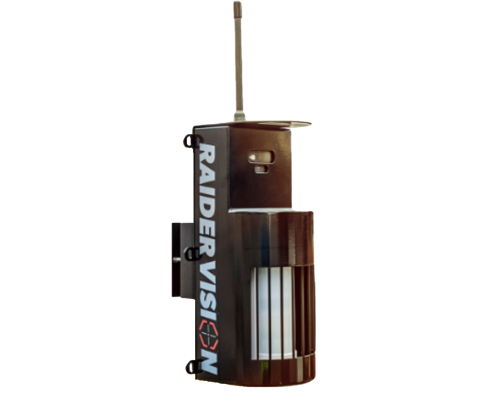 An image of a RaiderVision security alarm unit on a transparent background